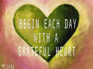 Finish the day with a grateful heart too!